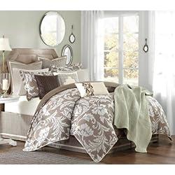 Hampton Hill Belville Polyester Jacquard 7-Piece Comforter Set, King, Multi