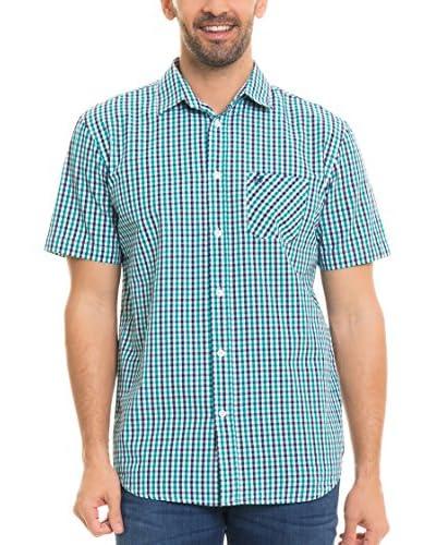 BIG STAR Hemd Balavin_Shirt_Ss blau/weiß