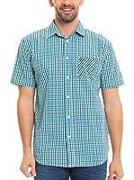 BIG STAR Camisa Hombre Balavin_Shirt_Ss (Turquesa / Blanco)