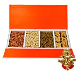 Chocholik Belgium Chocolates - Delightful Collection Of Almonds,cashew, Raisin And Baklava Gift Box With Ganesha...