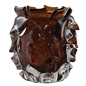 Lazy Susan Thorn Glass Votive, Amber