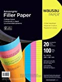 Astrobrights College Ruled Filler Paper - 8 x 10 1/2 - 20 pounds - 100 Sheets - 4 Bright Colors