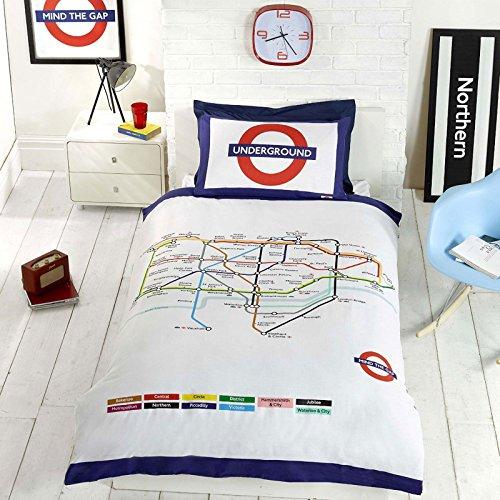 londoner-u-bahn-karte-einzelner-bettbezug-und-kopfkissenbezug-set