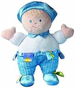 "Taggies 8"" Developmental Baby Doll, Blue Boy"