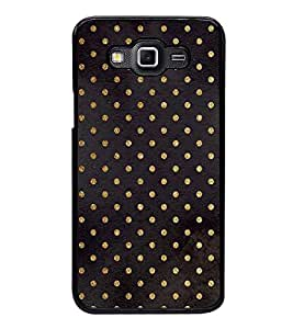 Fuson Premium 2D Back Case Cover Black colour pattern With blue Background Degined For Samsung Galaxy Grand Max G720