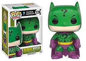 Funko POP Heroes Villains as Batman Riddler Action Figure at Gotham City Store