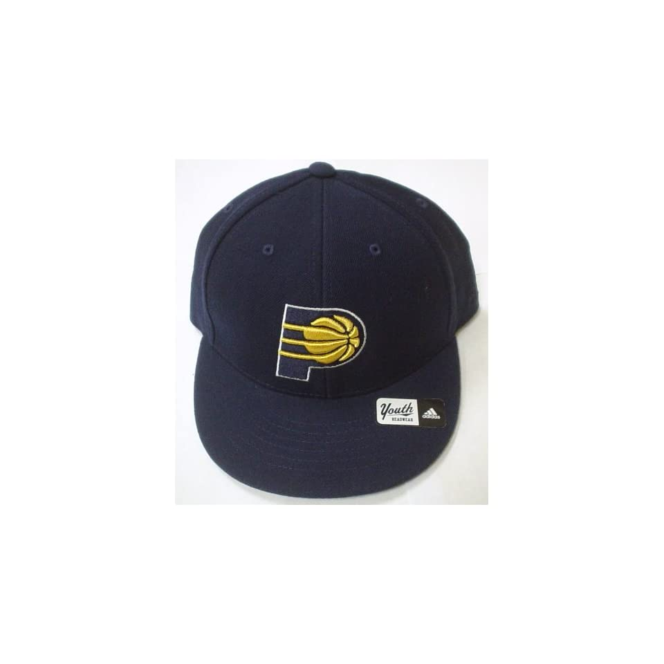 100% authentic 90fa5 99559 Indiana Pacers Youth Fitted Flat Bill Adidas Hat Size 6 5 8