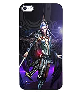 ColourCraft Warrior Girl Design Back Case Cover for APPLE IPHONE 4S