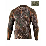 Browning Hell'S Canyon Lightweight Base Layer Top, Color: Realtree Max 1 (301803