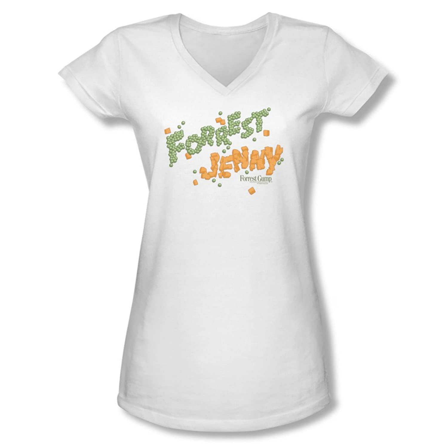 Forrest Gump Romance Drama Movie Peas And Carrots Juniors V-Neck T-Shirt Tee forrest gump ost
