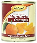 Roland Mandarin Orange Segments in Light Syrup, 11-Ounce Cans (Pack of 24)