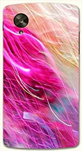 Marvelous multicolor printed protective REBEL mobile back cover for LG Nexus 5 / Google Nexus 5 D.No.N-L-10626-NX5