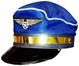 Blue Captian Air Pilot Hat - Cabin Crew Fancy Dress