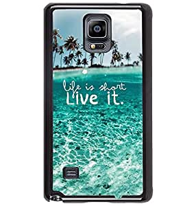 Printvisa Quote On Life Depicted By An Ocean Back Case Cover for Samsung Galaxy Note 4 N910::Samsung Galaxy Note 4 Duos N9100