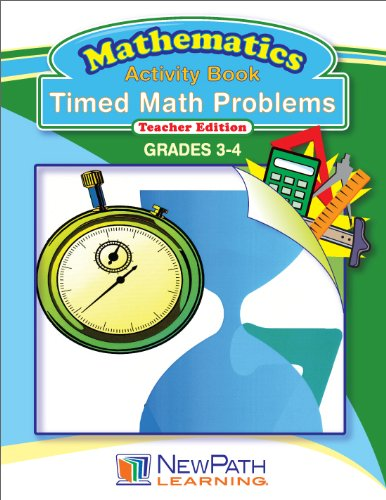 NewPath Learning Timed Math Problems Reproducible Workbook, Grade 3-4 - 1