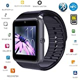 Smart Watch,[U.S. Warranty]JoyGeek All-in-1 Bluetooth Watch Wrist Watch Phone with SIM Card Slot and NFC for IOS Apple iPhone,Android Samsung HTC Sony LG Smartphones(Black)