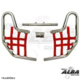Honda TRX 400EX Pro-elite Standard Nerf Bars Silver / Red