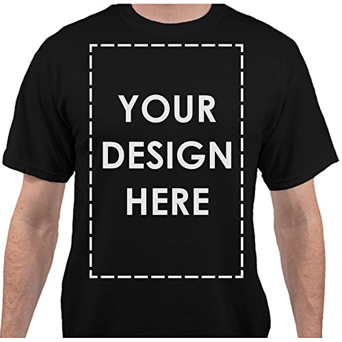 Add Your Own Custom Text Name Personalized Message or Image Jet Black T-Shirt - XLarge (Custom Shirts For Men compare prices)