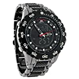 U.S. Polo Assn. Sport Men's US8170 Analog-Digital Black Dial Gun Metal Bracelet Watch