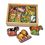 Melissa & Doug Magnetic Wooden Animals (20 pieces)