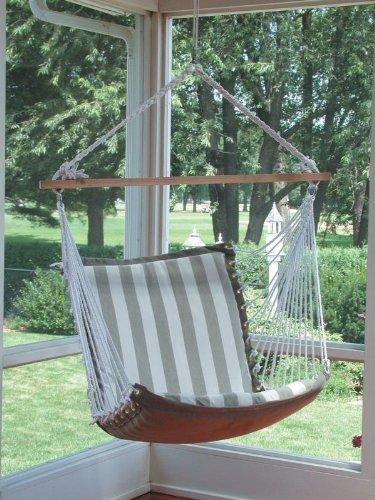 Algoma 1500-135142 Hanging Soft Cushion Chair, Palm Stripe Blue front-933480