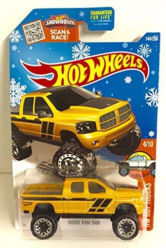 hot-wheels-dodge-ram-1500-144-250-hw-hot-trucks-4-10-yellow-black