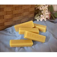 (5 Bars) 100% ORGANIC Hand Poured Beeswax - 1oz each - Premium Quality, Cosmetic Grade, Triple Filtered Bees Wax