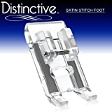 Distinctive Satin Stitch Sewing Machine Presser Foot - Fits All Low Shank Snap-On Singer*, Brother, Babylock, Euro-Pro, Janome, Kenmore, White, Juki, New Home, Simplicity, Elna and More!