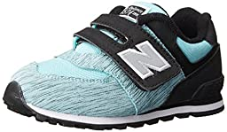 New Balance KG574I Sweatshirt Running Shoe (Infant/Toddler), Aqua/Black, 2 W US Infant