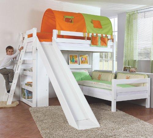 Etagenbett Set »4 DREAMS« in Buche massiv weiß lackiert jetzt bestellen
