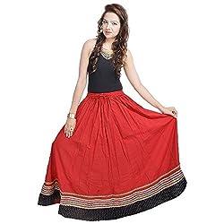 Prateek Retail Long Long Red Skirt