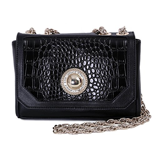 Versace Jeans EE1VOBBD4 Borsa a Tracolla, Donna, Nero