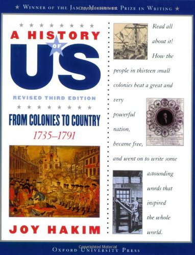 A History of US: From Colonies to Country: 1735-1791 A History of US Book Three PDF