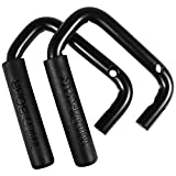 Front Grab Handles Grip Handle Grab bar For Jeep Wrangler JK JKU Sports Sahara Freedom Rubicon X & Unlimited 2007-2018 -Pair (Matte Black)