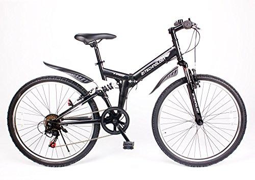 21Technolog(MTB266)マウンテンバイク26インチ・シマノ製6段変速付き (マットブラック)