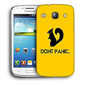 Snoogg Don'T Panic Designer Protective Back Case Cover For Samsung Galaxy Core