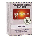 Out of Africa Lavender All Skin Types Pure Shea Butter Bar Soap 4 Oz (Pack of 2)