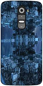 Snoogg Cuboid Building 2614 Designer Protective Back Case Cover For LG G2