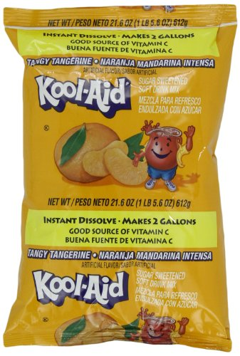 Kool-Aid Tangy Tangerine (Makes 2-Gallons) Drink Mix  (Pack of 5)