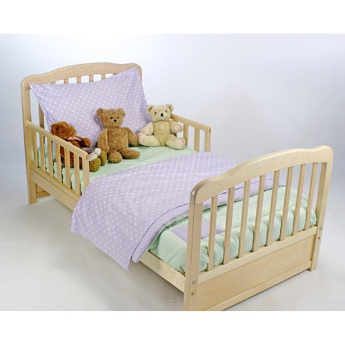American Baby Company American Baby Company Toddler Bedding Set - Lavender And Celery, Green, 100% Cotton, Toddler front-64865