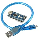 Nano V3.0 Development Board Module with ATMEGA328P Microcontroller and CH340 Chip, Arduino Compatible 16MHz, 5V Comes with USB Cable from Optimus Electric