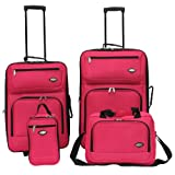 Hercules Jetlite 4-pc. Pink Upright Luggage Set One Size Watermelon pink