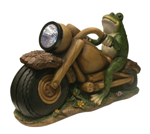 Alpine Solar Frog on Motorcycle with Solar Spotlight