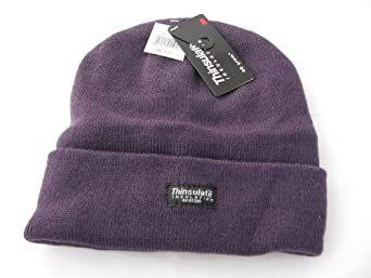 Ladies or mens purple thinsulate 40gm lined beanie ski hat ,One size , Great every day hat for the coldest of Winter weather ,