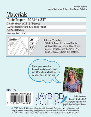 Jaybird Quilts Rock Candy Table Topper Quilt Pattern