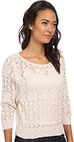 Roxy Juniors Lafayette Crew Neck Dolman Sweater, Natural Pattern, X-Large