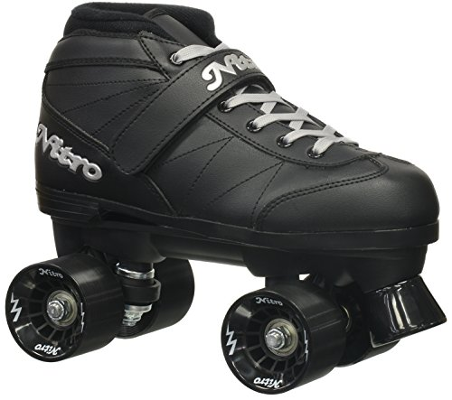 Epic Skates 2016 Epic Super Nitro 6 Indoor/Outdoor Quad Speed Roller Skates, Black