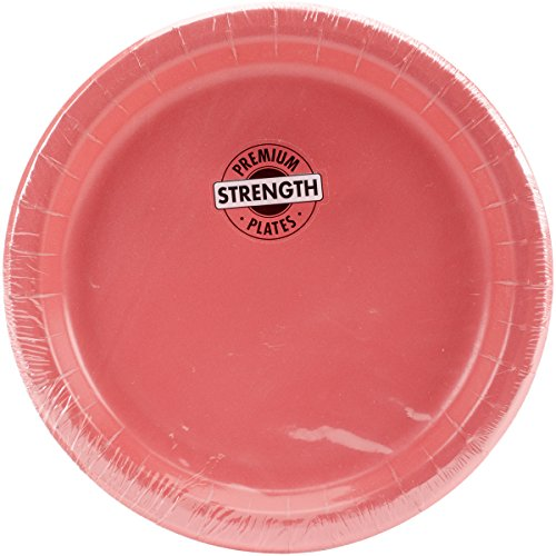 Heavy Duty 7-inch Paper Plates, Coral