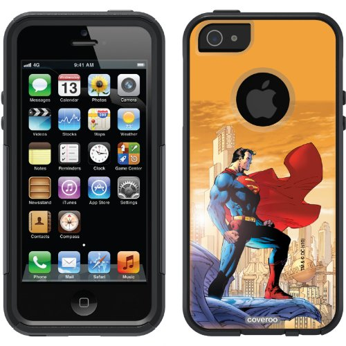 Great Sale Superman - On Ledge design on a Black OtterBox® Commuter Series® Case for iPhone 5s / 5