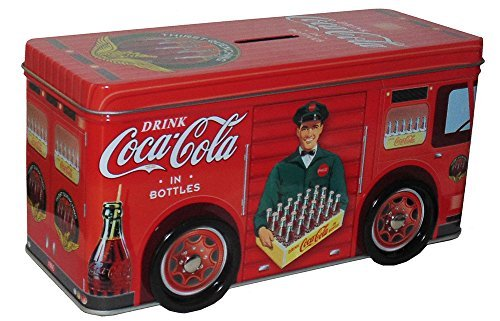 Red Coca-Cola Tin Truck with Driver Bank